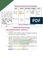 CLASES Y ACTIVIDADES VIRTUALES TRANSICION 11 A 15 DE MAYO