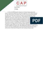 CAP Portfolio Coversheet - Personal Narrative