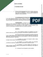 Decreto no 515 , de 17 de março de 2020