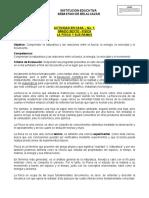 ACTIVIDAD EN CASA - FISICA No. 1 - SEXTO