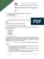 CH 1 - Eléments de bases du langage C