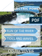 CHE190-HYDROELECTRIC POWER