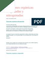 Funciones orgánicas oxigenadas y nitrogenadas