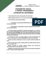 Cronómetro Digital Con Parada Programable Nª 4-052