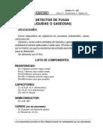 Detector de Fugas Liquidas o Gaseosas Nª 218