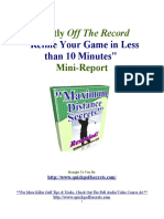 [Golf Tips]Refine Your Game in Less than 10 Minutes Mini-Report