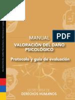 Versión digital del Manual Valoración del Daño Psicológico Protocolo y Guía de Evaluación Ecuador
