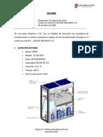 INFORME DE MANTENIMIENTO CORRECTIVO - CUARTO DE CONTROL E HOUSE FUGA DE GAS REFRIGERANTE