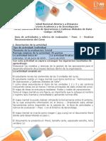 Guía de actividades y Rúbrica de evaluación - Unidades 1 2 3 - Paso 1 - Realizar Reconocimiento del Curso