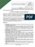 F - 107 Políticas protección de la información