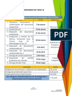 Programa de Trabajo SEMINARIO DE TESIS 3-3