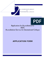 ASIC Application Form