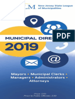 NJ League of Municipalities Directory 2019