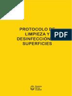 CABA I Protocolo limpieza y desinfeccion superficies