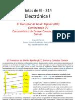 El BJT Teoria de Operacion IE-314 Continuación A (1)