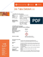 KLAXINN TABS DETCLORK 500 PPM X 1,05 GR - FDS