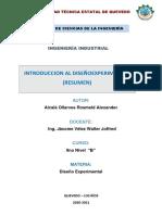 introduccion al diseño experimental( resumen)