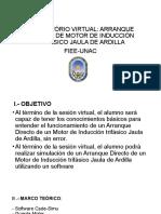 ARRANQUE DIRECTO DE MOTOR DE INDUCCIÓN TRIFÁSICO JAULA