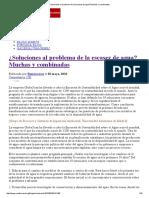 ¿Soluciones al problema de la escasez de agua_ Muchas y combinadas