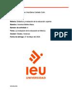La evaluación de la educación en México.