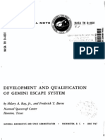 Development and Qualification of Gemini Escape System