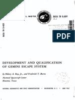Development and Qualification of Gemini Escape System
