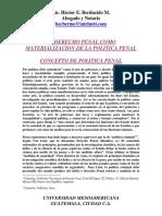 Derecho Penal, materialización del poder coercitivo del Estado