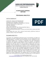 Curso de Acarologìa General 2010