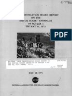 NASA Investigation Board Report on the Initial Flight Anomalies of Skylab 1 May 16, 1973