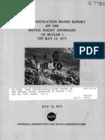 NASA Investigation Board Report on the Initial Flight Anomalies of Skylab 1 May 16, 1973