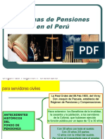 Tema  Sistemas Pensionarios en Peru