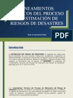 LINEAMIENTOS TÉCNICOS DEL PROCESO DE ESTIMACIÓN DE RIESGOS DE DESASTRES