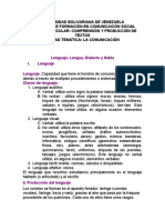 12 Lenguaje, lengua, dialecto y habla