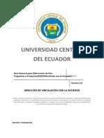 Guía general para elaboración de programas y proyectos de Vinculación con la Sociedad  agosto_2019 DVS-GUI-01.docx