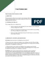 Statistics of Factories 2001