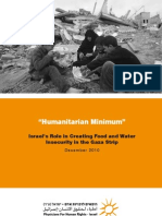 PHR-Israel Report Dec-10 [Humanitarian Minimum -- Israel's Role in Creating Food and Water In Security in the Gaza Strip]
