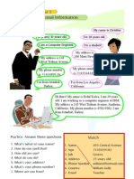 Grammar for Beginners Unit 1