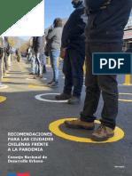 Recomendaciones para las ciudades chilenas frente a la pandemia CNDU 2020