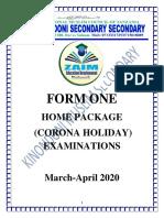 FORM ONE EXAMS.pdf