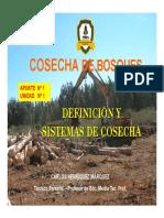 CLASE Nº1 UNIDAD 1  OP. DE COSECHA