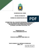 Informe Final Pasantia - Universidad del Caribe