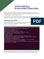 Manual Instalación ProFtpd