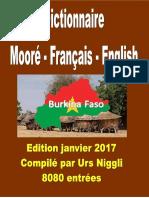 Dictionnaire mooré français anglais