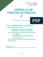 CUADERNILLO CIENCIAS NATURALES 3°
