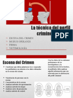 La técnica del perfil criminologico