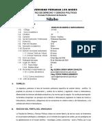 Silabo de Derecho de Mineria e Hidrocarburos 2020-i Semipresencial