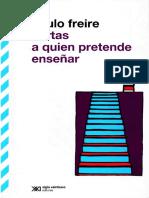 2. Primera carta del libro Cartas a quien pretende enseñar. Paulo Freire