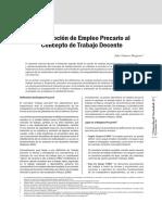 definicion de trabajo precario y trabajo decente..pdf