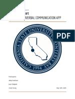 convee - capstone report