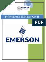 Emerson Electric IB CIA II
